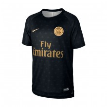 Camiseta Paris Saint-Germain Squad 2018-2019 Niño Black-Truly gold