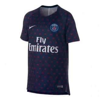 Camisola  Nike Paris Saint-Germain Squad 2018-2019 Niño Midnight navy-White