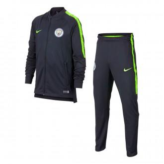 Tracksuit  Nike Kids Manchester City FC Squad 2018-2019  Dark Obsidian-Volt