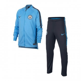 Fato de treino  Nike Manchester City FC Squad 2018-2019 Niño Field blue-Dark Obsidian