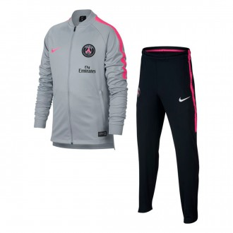 Tuta  Nike Paris Saint-Germain Squad 2018-2019 Junior Wolf grey-Black-Hyper pink