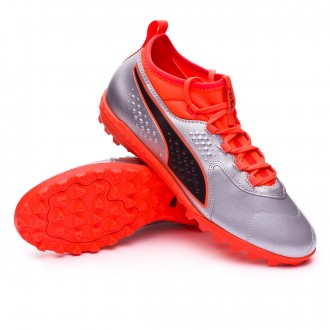 Zapatilla  Puma One 3 Piel TT Puma silver-Shocking orange-Puma black