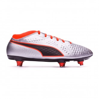 Chuteira  Puma One 4 SG Puma silver-Shocking orange-Puma black