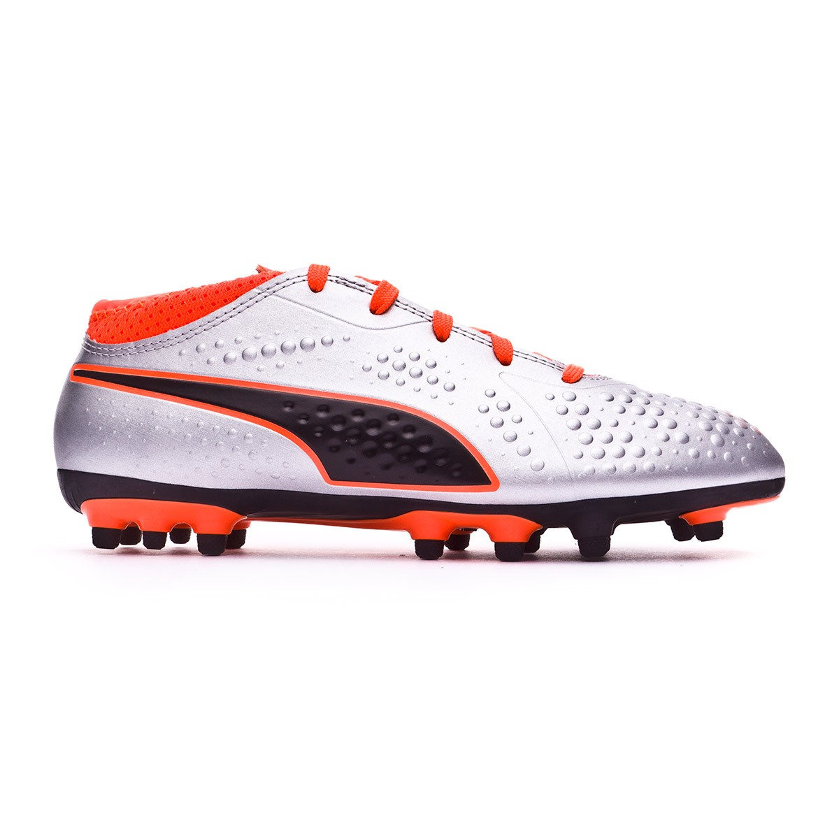 timeless design e773b 58e8c Chaussure de foot Puma One 4 AG enfant Puma silver-Shocking orange-Puma  black - Boutique de football Fútbol Emotion