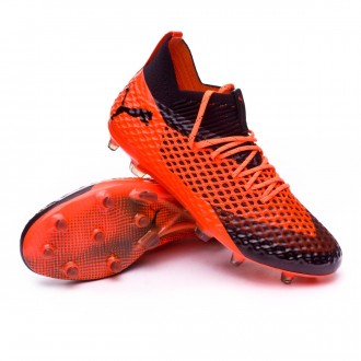 Bota  Puma Future 2.1 Netfit FG/AG Puma black-Shocking orange