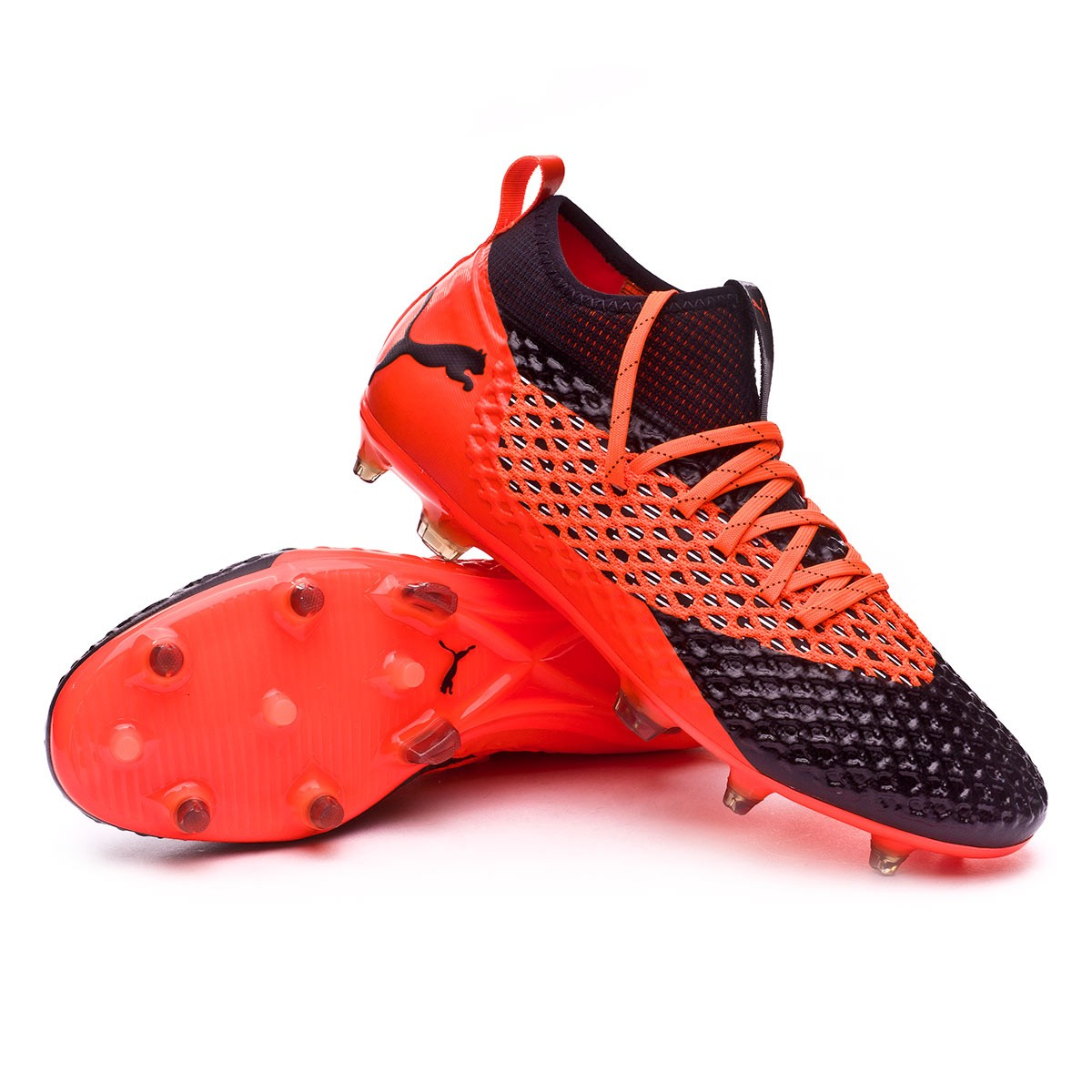 a208bf4b3eee Boot Puma Future 2.2 Netfit FG AG Puma black-Shocking orange ...