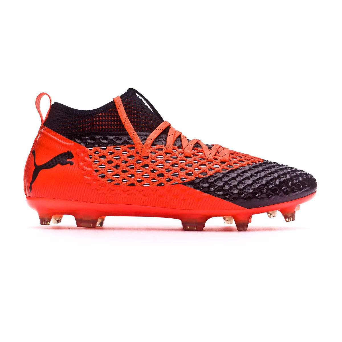 5e9b9c2911d9 Boot Puma Future 2.2 Netfit FG AG Puma black-Shocking orange - Leaked soccer