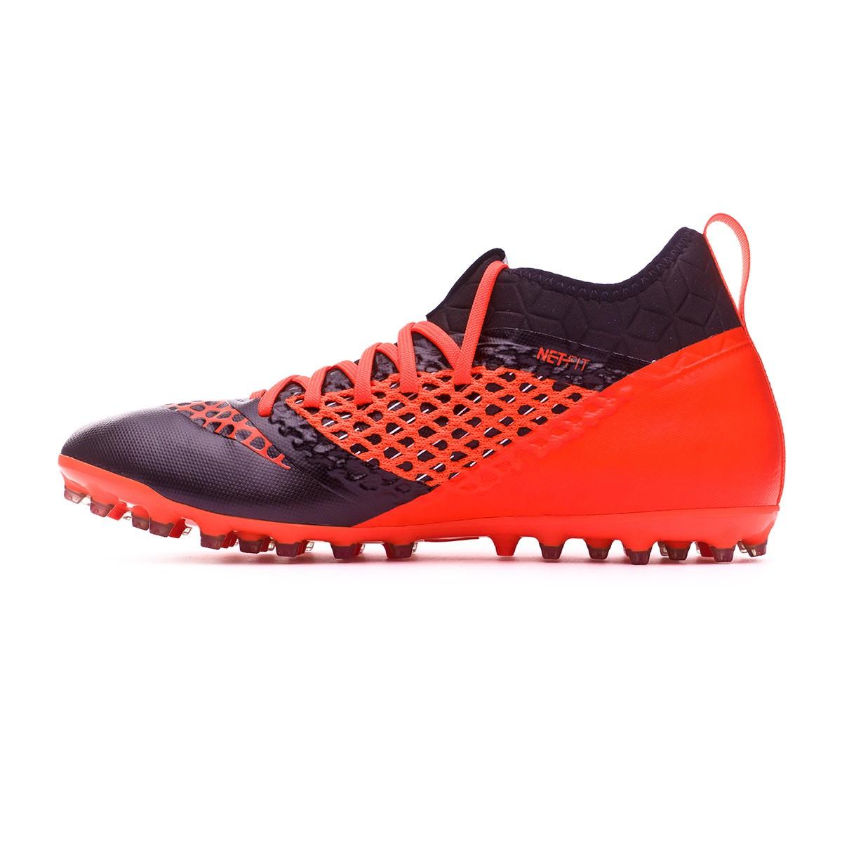 6e79d99d2 Football Boots Puma Future 2.3 Netfit MG Puma black-Shocking orange -  Tienda de fútbol Fútbol Emotion