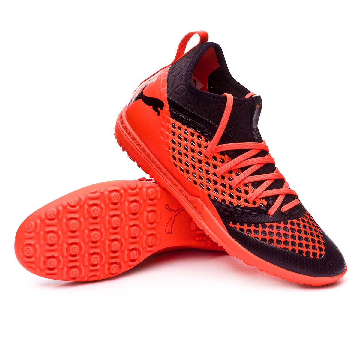 new style 30a21 65fcd Football Boot Puma Future 2.3 Netfit TT Puma black-Shocking orange -  Football store Fútbol Emotion