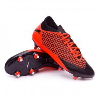 Bota  Puma Future 2.4 SG Puma black-Shocking orange