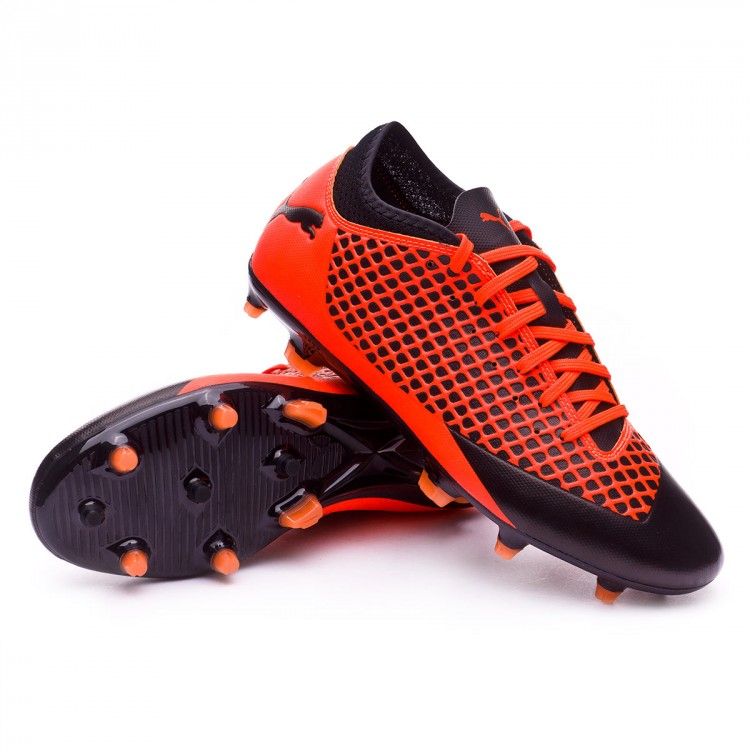 8d3ed13eeffb2 Bota de fútbol Puma Future 2.4 FG AG Puma black-Shocking orange ...