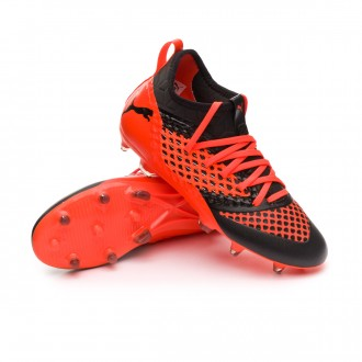 Bota  Puma Future 2.3 Netfit FG/AG Niño Puma black-Shocking orange