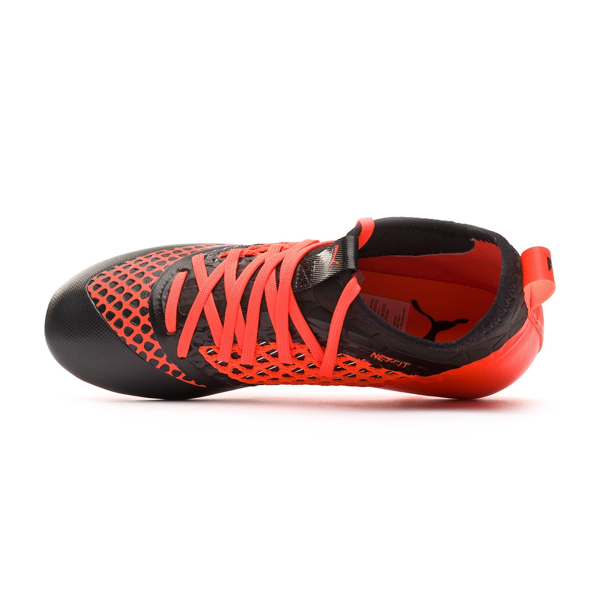58cbba50c8467 Zapatos de fútbol Puma Future 2.3 Netfit FG AG Niño Puma black-Shocking  orange - Leaked soccer