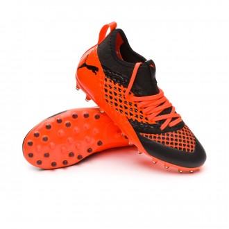 Boot  Puma Future 2.3 Netfit MG Niño Puma black-Shocking orange