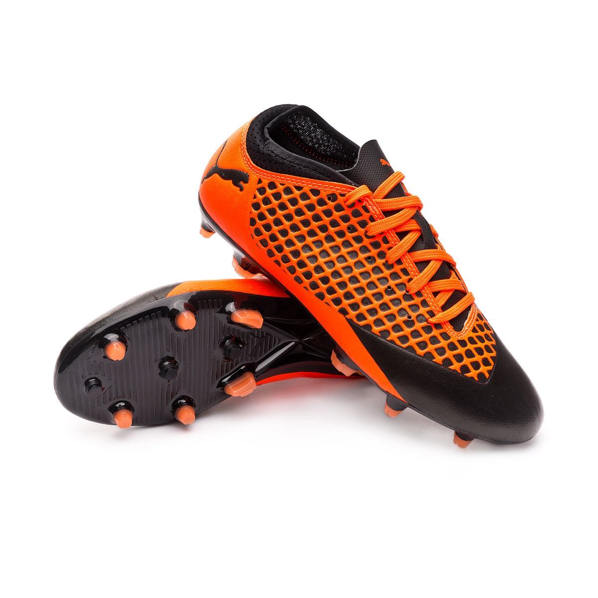 Bota Future 2.4 FGAG Niño Puma black Shocking orange