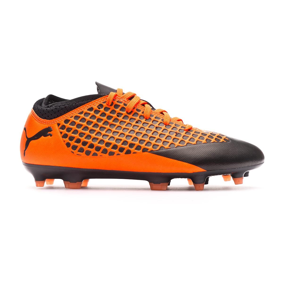 0f7f835ef55ea Bota de fútbol Puma Future 2.4 FG AG Niño Puma black-Shocking orange -  Tienda de fútbol Fútbol Emotion
