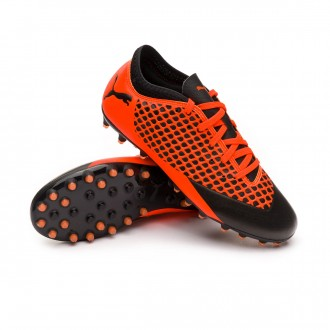 Bota  Puma Future 2.4 MG Niño Puma black-Shocking orange