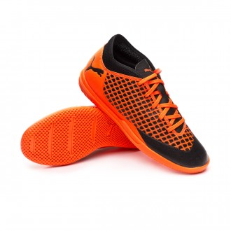 Futsal Boot  Puma Kids Future 2.4 IT  Puma black-Shocking orange