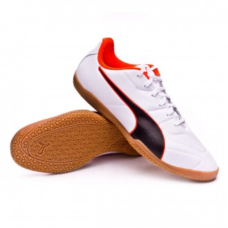 Futsal Boot  Puma Classico C II Sala Puma white-Puma black-Shocking orange