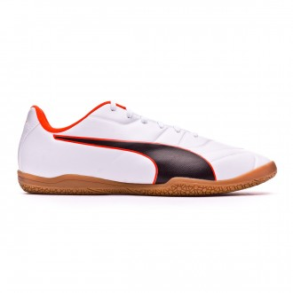 Zapatilla Puma Classico C II Sala Puma white-Puma black-Shocking orange