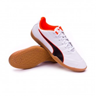 Futsal Boot  Puma Kids Classico C II Sala Puma white-Puma black-Shocking orange