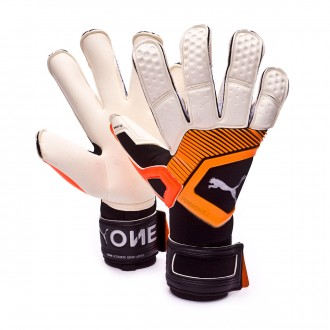 Glove  Puma One Grip 1 Hybrid Pro Puma white-Shocking orange-Puma black-Silver