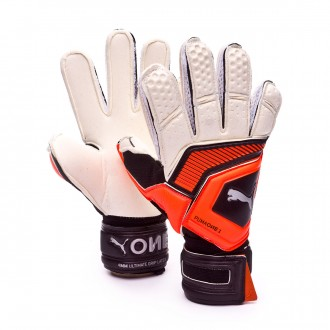 Glove  Puma Kids One Grip 1 RC  Puma white-Shocking orange-Puma black-Silver