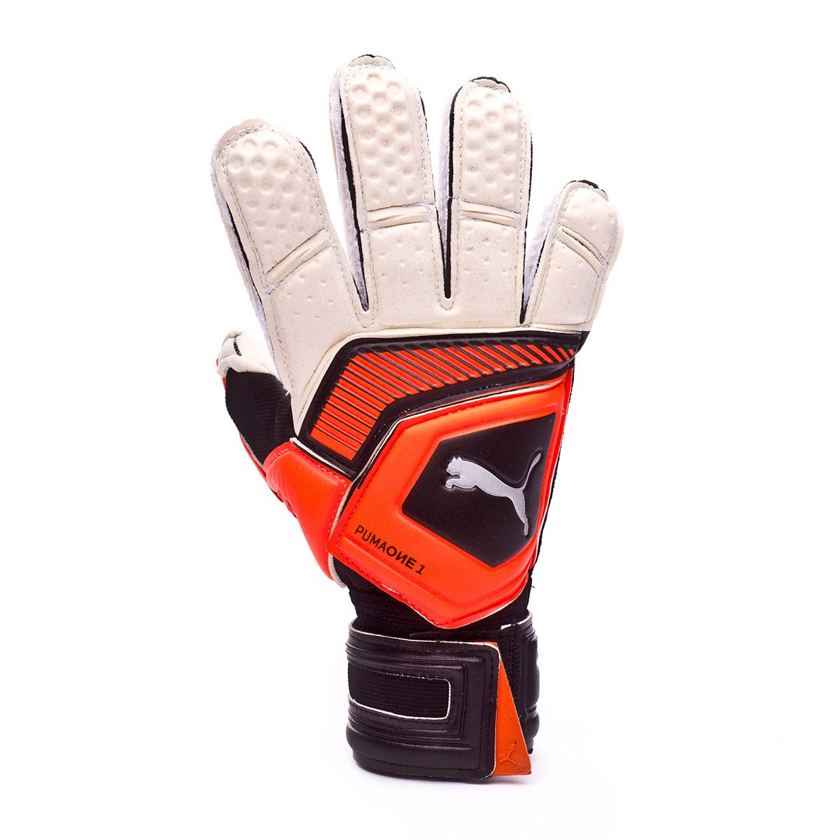 aaea25d8e4d6 Glove Puma Kids One Grip 1 RC Puma white-Shocking orange-Puma black-Silver  - Football store Fútbol Emotion