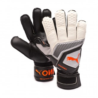 Glove  Puma One Protect 2 RC Puma white-Shocking orange-Puma black-Silver