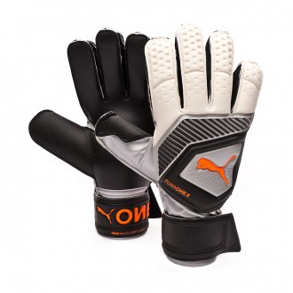 Glove  Puma One Protect 3 Puma white-Shocking orange-Puma black-Silver