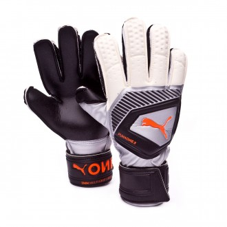 Glove  Puma Kids One Protect 3 Puma white-Shocking orange-Puma black-Silver