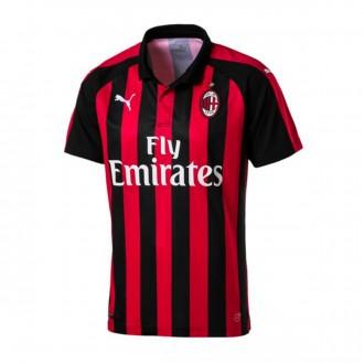 Camiseta  Puma AC Milan Primera Equipación 2018-2019 Chili pepper-Puma black