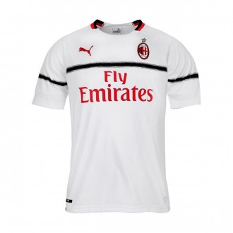 Camiseta  Puma AC Milan Segunda Equipación 2018-2019 Puma white-Chili pepper