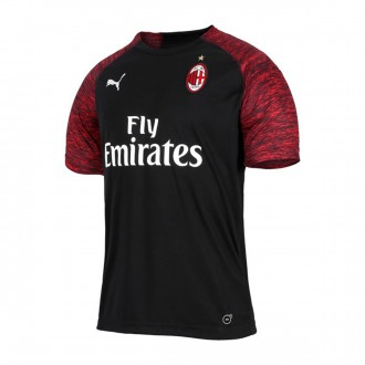 Camisola  Puma AC Milan Tercera Equipación 2018-2019 Puma black-Chili pepper