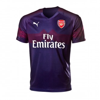 Camisola  Puma Arsenal FC EPL Segunda Equipación 2018-2019 Peacoat-High risk red