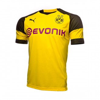 Maillot  Puma Domicile BVB Opel Evonik 2018-2019 Cyber yellow
