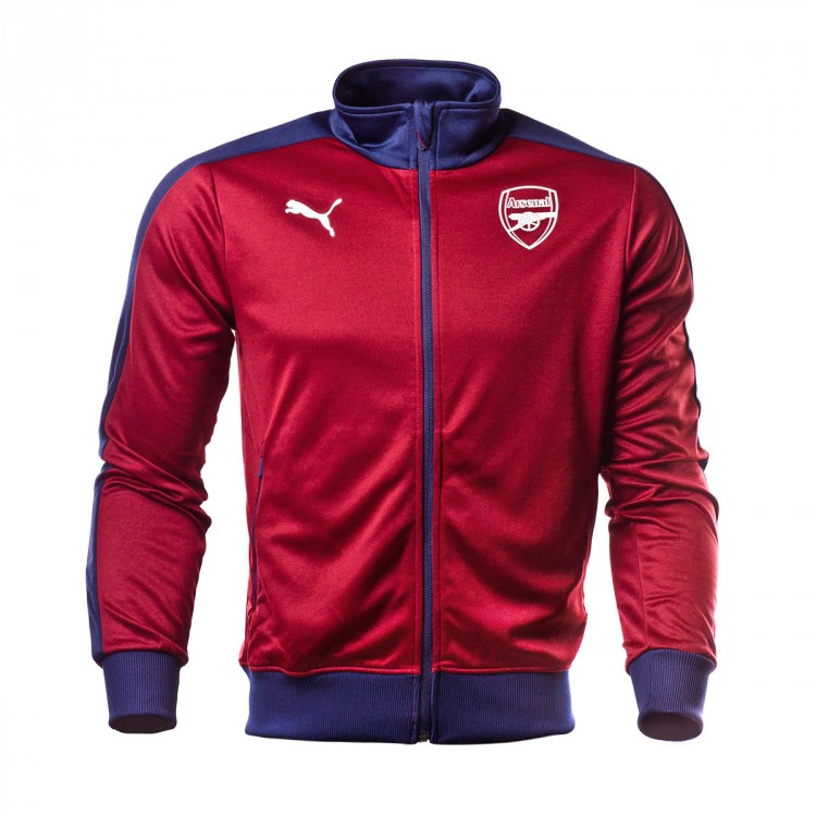 0a7498dcbf9f Jacket Puma Arsenal FC Fan 2018-2019 Pomegranate-Peacoat - Tienda de ...
