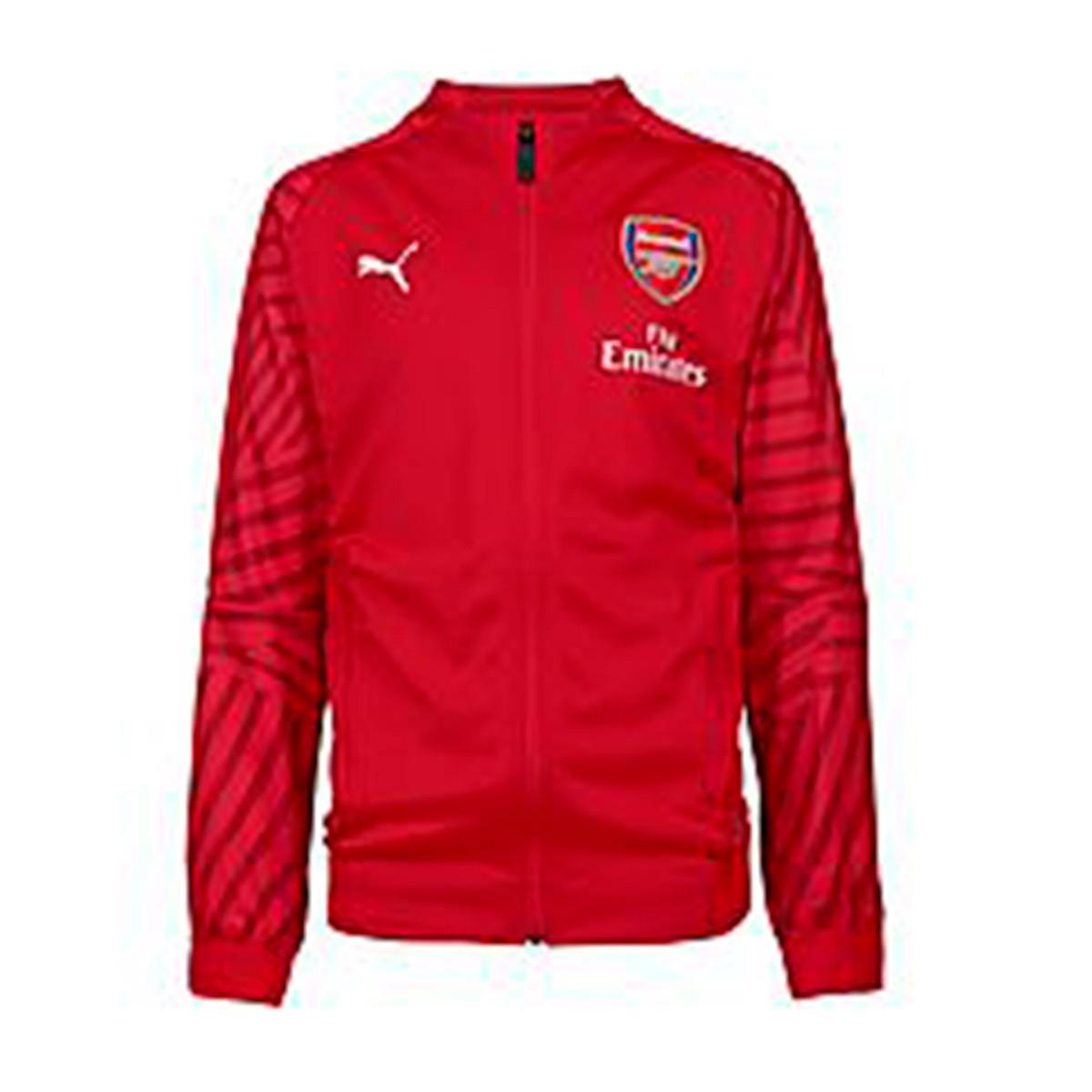 6a9aa8fae5b Jacket Puma Kids Arsenal FC Stadium Logo 2018-2019 Chili pepper ...