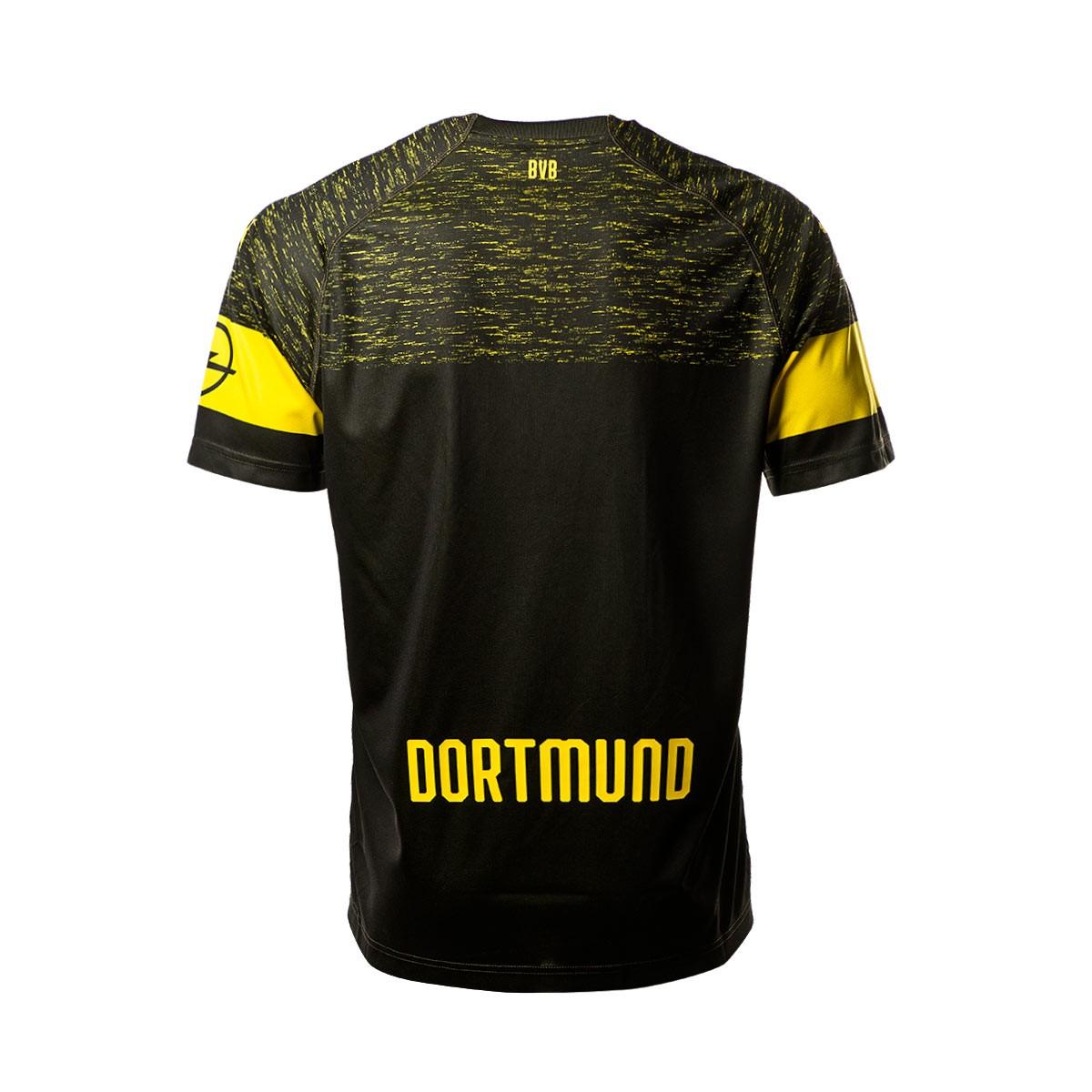 check out dc7d9 7e139 Camiseta BVB Borussia Dortmund Opel Evonik Segunda Equipación 2018-2019  Niño Puma black
