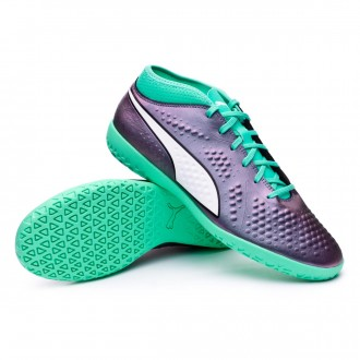 Sapatilha de Futsal  Puma One 4 IL IT Shift-Biscay green-Puma white