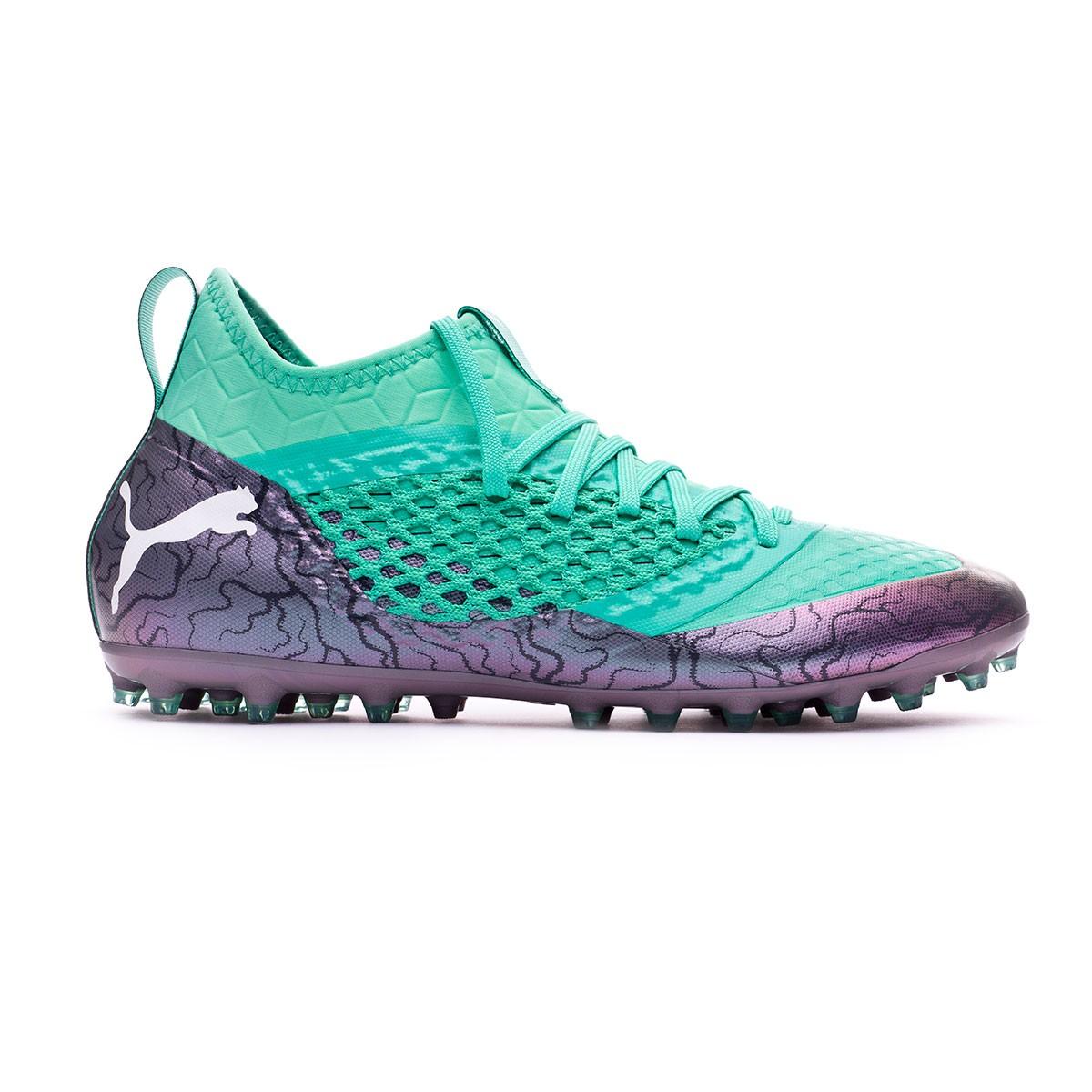 038692a0af160 Football Boots Puma Future 2.3 Netfit MG Shift-Biscay green-Puma white -  Football store Fútbol Emotion