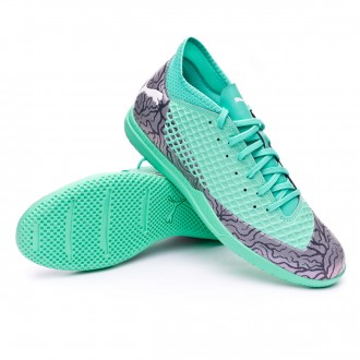 Sapatilha de Futsal  Puma Future 2.4 IT Shift-Biscay green-Puma white