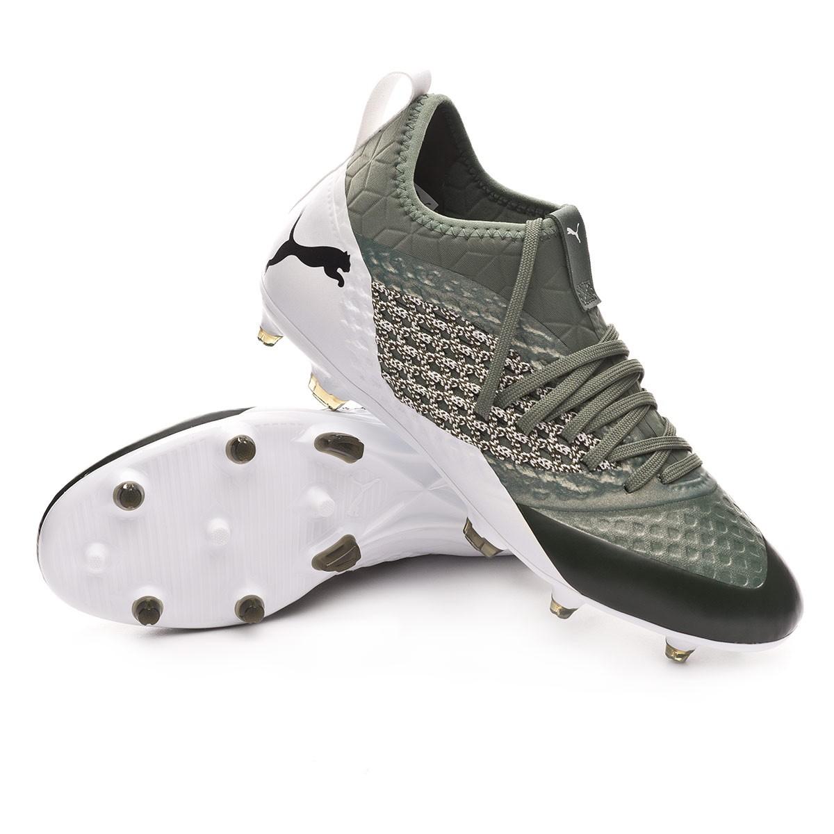 5ca0fe8dc0d38 Zapatos de fútbol Puma Future 2.3 Netfit FG AG Verde-Blanco - Tienda de  fútbol Fútbol Emotion