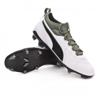 Boot  Puma One 3 Leather FG White-Green-Black