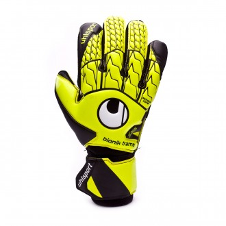 Guante  Uhlsport Supersoft Bionik Amarillo fluor-Negro-Blanco
