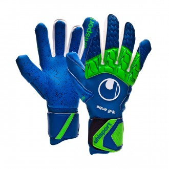 Guante  Uhlsport Aquagrip HN Pacific blue-Fluor green