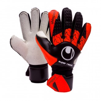 Guante  Uhlsport Super Resist Black-Fluor orange-White