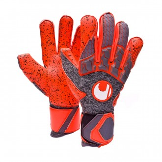 Guante  Uhlsport Aerored Supergrip Dark grey-Fluor red
