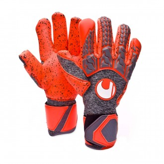 Glove  Uhlsport Aerored Supergrip Finger Surround Grey-Orange