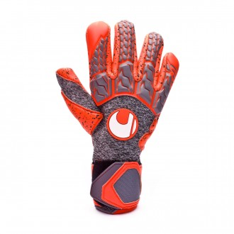Luvas  Uhlsport Aerored Supergrip Finger Surround Cinza-Laranja
